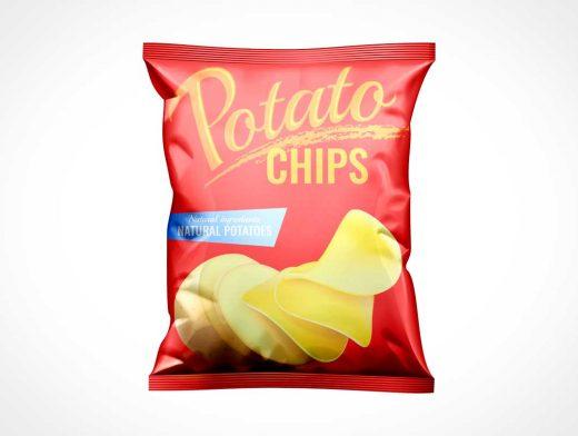 Foil Chip Bag PSD Mockups