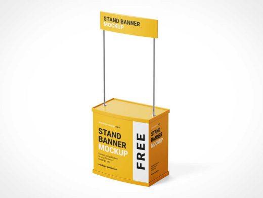Kiosk Trade Show Event Stand PSD Mockups