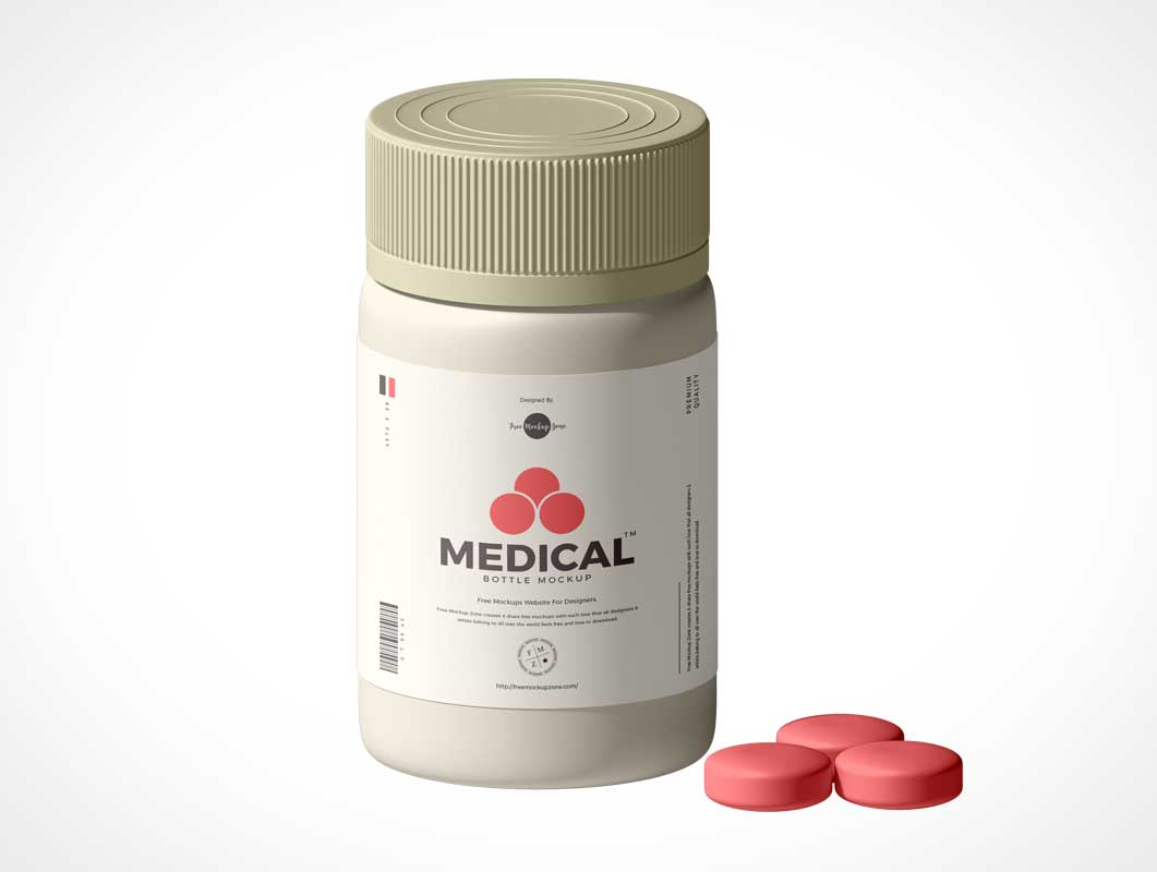 Medicine Pill Bottle PSD Mockups