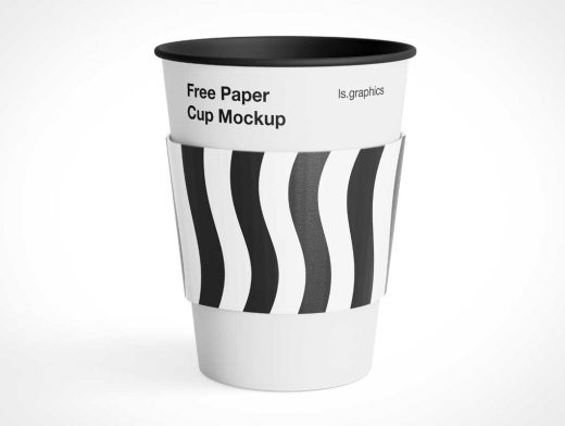 Paper Coffee Cup & Rolled Rim PSD Mockups