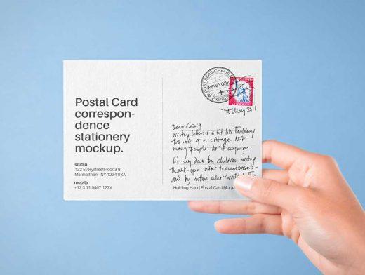 Postcard Greeting PSD Mockups