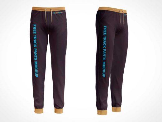 Track Suit Sweatpants Clothing PSD Mockups