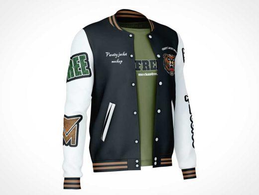 Varsity Team Sport Jacket PSD Mockups