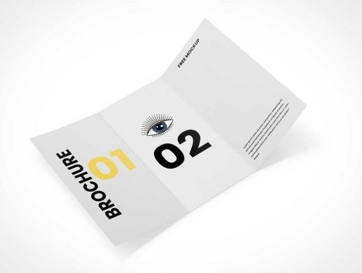 3 Panel Folded Brochure PSD Mockups