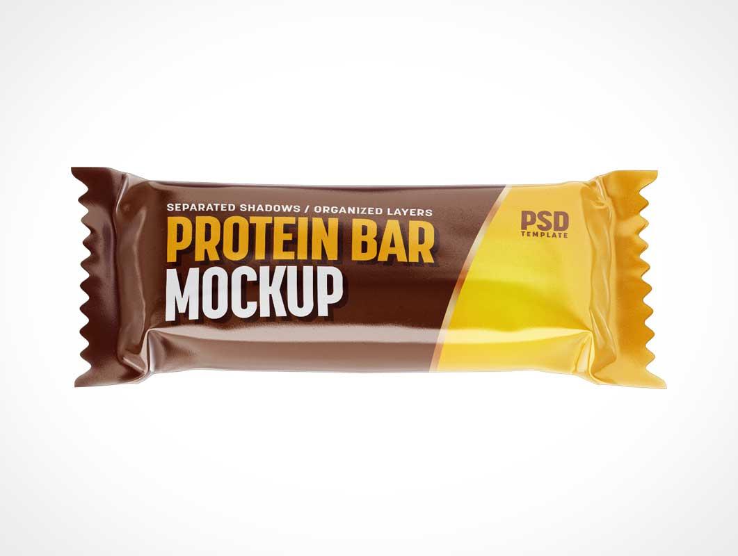Candy Bar Wrapper Branded Packaging PSD Mockups