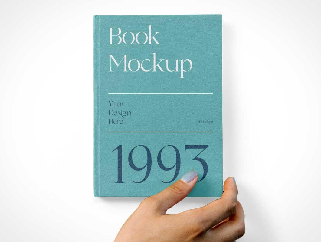 Hardcover Book Faceup PSD Mockups