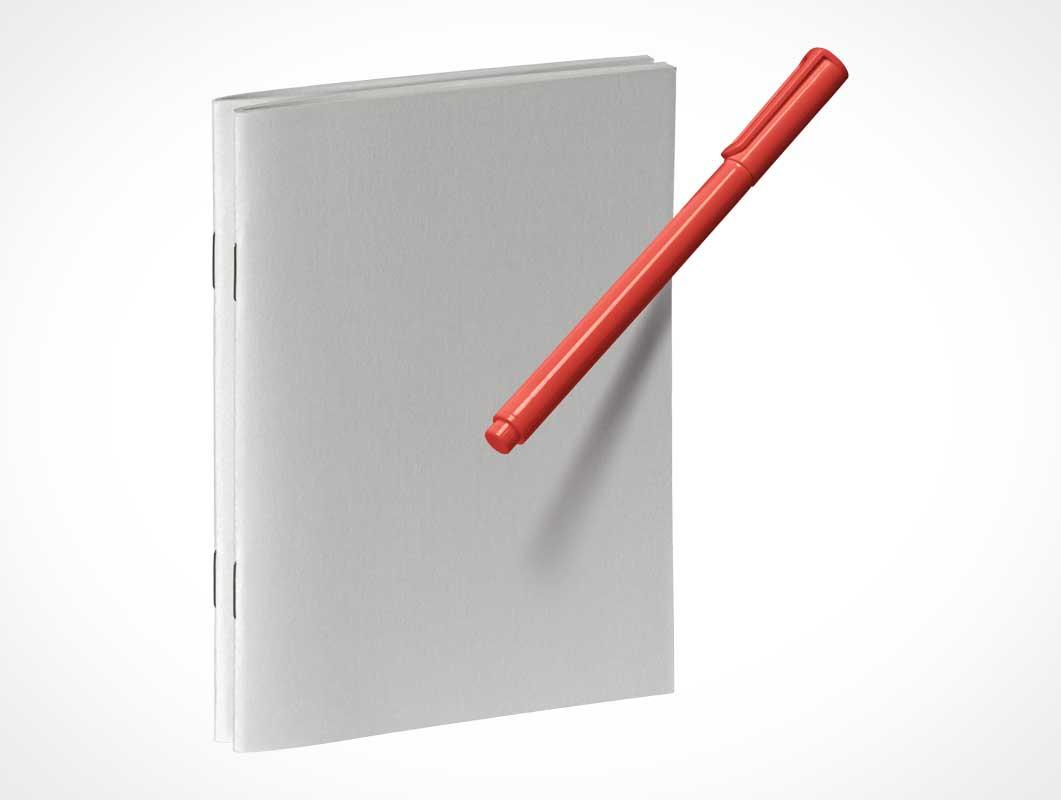 Notebook & Pen PSD Mockups