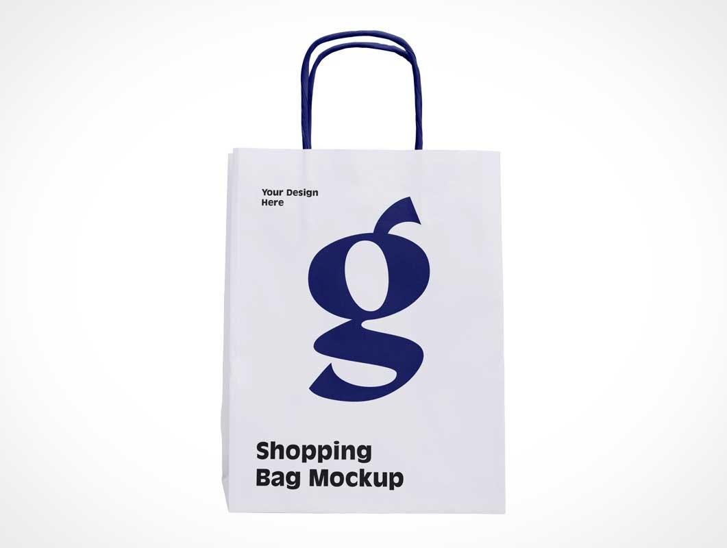 Shopping Bag & Paper String Handles PSD Mockups
