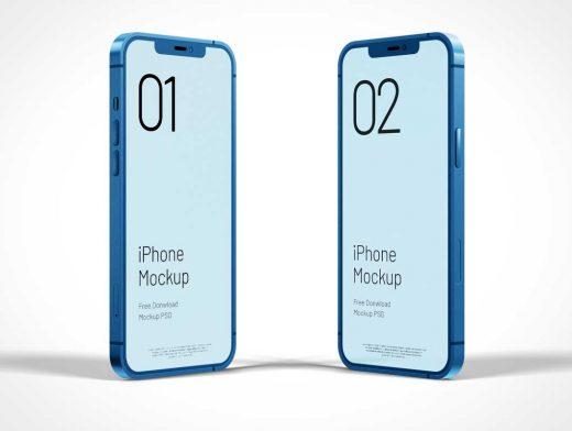 iPhone 12 Pro Max Free PSD Mockups