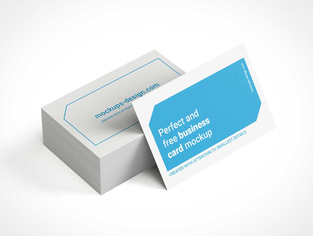 Corporate Business Card Stack PSD Mockups