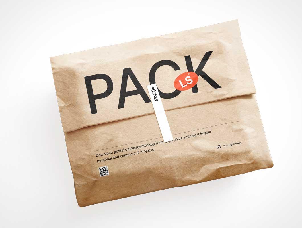 Kraft Mailer Package PSD Mockups