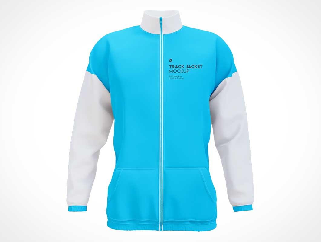 Men's Track Sport Jacket PSD Mockups