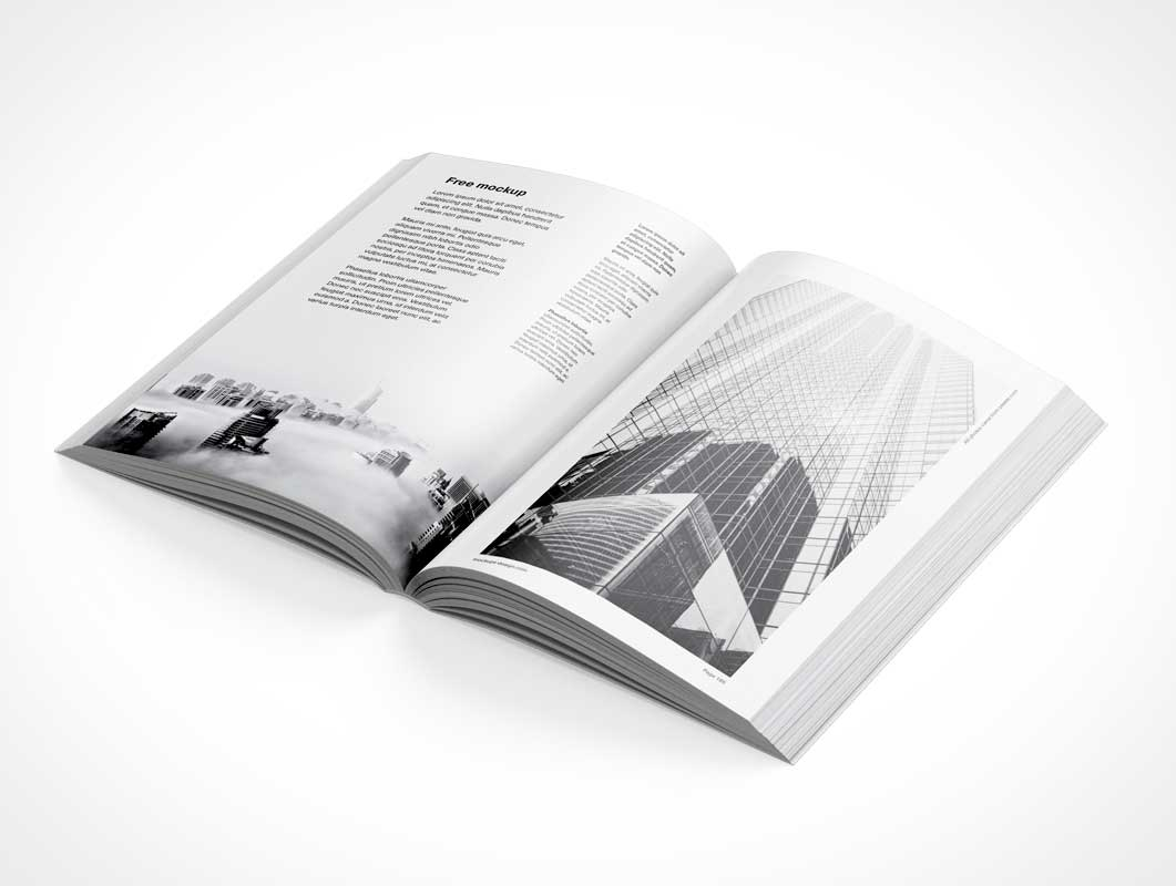 Softcover Spread Paper Book PSD Mockups