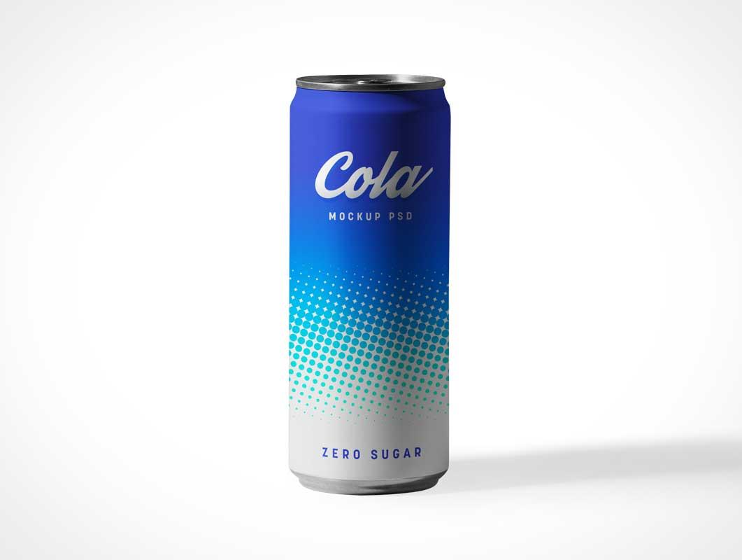 Tall Slim Soda Can PSD Mockups